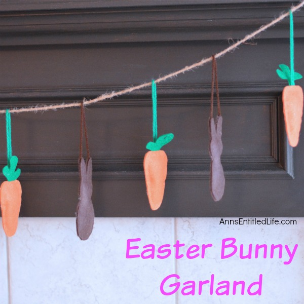 Easter Bunny Garland. Decorate your fireplace, your wall or a window with this Easter Bunny Garland this spring. Perfect for Easter or Spring decor, this adorable Easter Bunny Garland is simple to make. Very versatile, you can make this garland as long, or as short, as you like to fit the area where you wish to hang it.