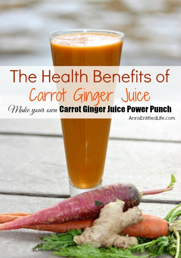 Carrot Ginger Juice Power Punch. A simple blend of carrots and ginger may boost your metabolism and provide you the much needed energy you need to get your day started. This Carrot Ginger Juice Power Punch is a great way to jump start your day!