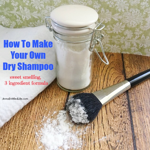 How To Make Your Own Dry Shampoo. Making your own dry shampoo is simple and inexpensive. Save yourself big dollars over salon and drug store brands, and know exactly what is in your dry shampoo by learning how to make your own sweet smelling dry shampoo with this simple three ingredient formula.