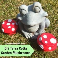 DIY Terra Cotta Garden Mushrooms