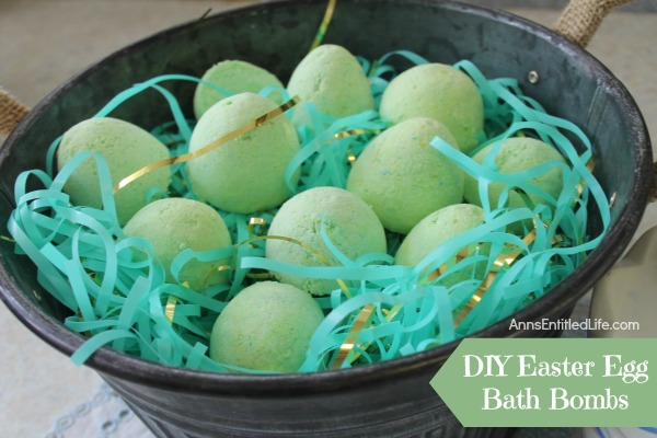 DIY Easter Egg Bath Bombs. Make your children something different for their Easter baskets this year with this fun DIY Easter Egg Bath Bombs recipe. Simple to make, these DIY Easter Egg Bath Bombs don't require many ingredients.