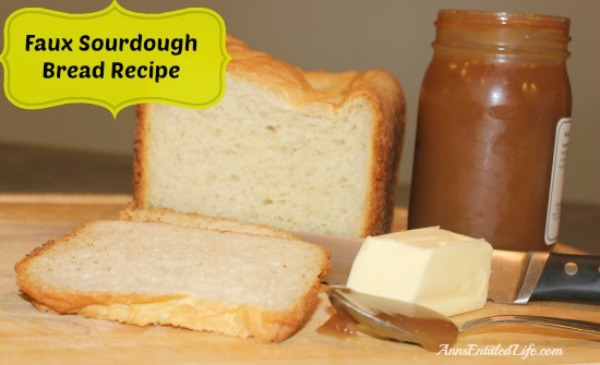 Faux Sourdough Bread Recipe. This low sodium, low glycemic faux sourdough bread has been a staple of my diabetic, sodium restricted, mother-in-law's diet for many years now. It is easy to make, tastes great, and freezes well.