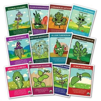 100% Certified Organic Non-GMO Culinary Herb Set