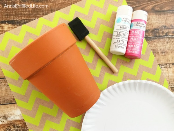 DIY Ombre Plant Pot. Dress up your plant pots with an exciting array of colors with this easy, DIY Ombre Plant Pot!  Whether for your patio, hot house or kitchen window sill, these lovely Ombre Plant Pots - which can be made in any color - will refresh old Terra-cotta planters, brighten new planters, and add a touch of whimsy to your garden decor.