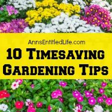 10 Timesaving Gardening Tips