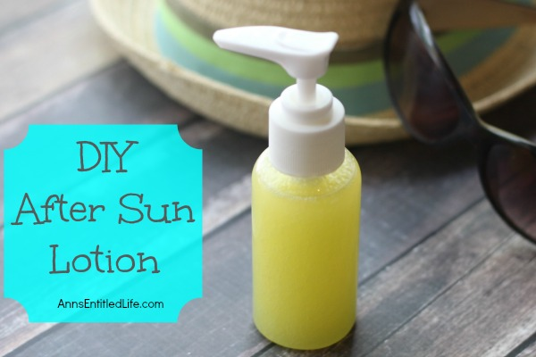 DIY After Sun Lotion. After a day out in the sunshine your skin can use a little pampering. Make your own terrific after sun lotion for mere pennies. This easy after sun lotion recipe makes a fabulous soothing, cooling, moisture replenishing DIY after sun lotion your skin will drink right up, any time of the year!