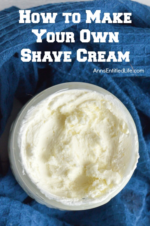 Make Your Own Shave Cream. Looking for a soothing, moisturizing and wonderfully fragrant shave cream without all the chemicals found in retail brands? This all natural shave cream is simply fabulous. Make your own shaving cream easily and inexpensively with this simple step by step tutorial.