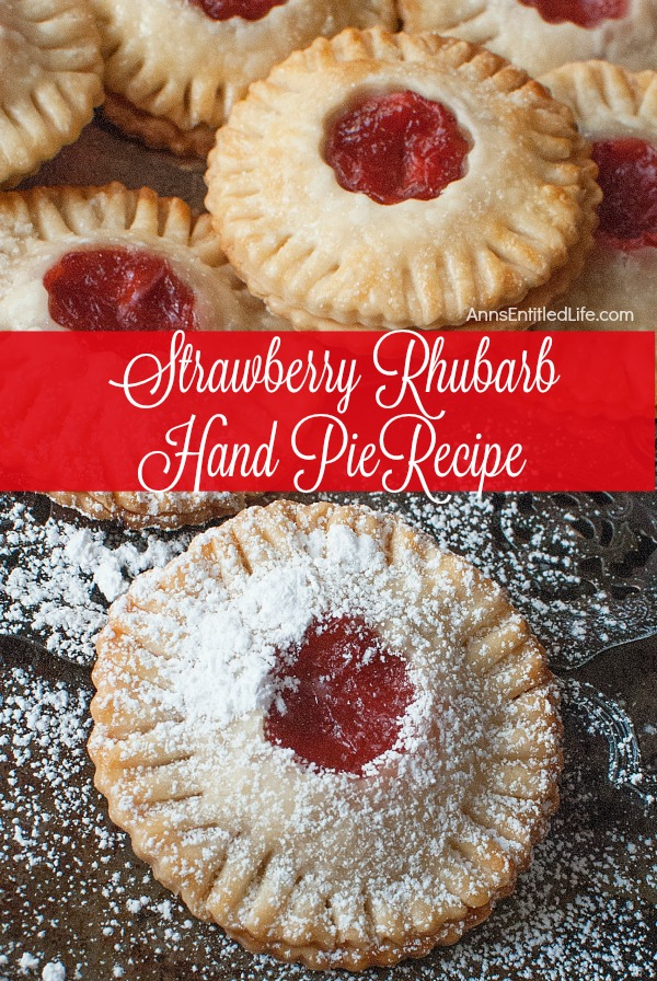 Strawberry Rhubarb Hand Pies Recipe. Homemade pie, but no utensils required to eat. These delicious, sweet and tart, easy to make Strawberry Rhubarb Hand Pies are great for dessert, lunch boxes, snacks and portion control.