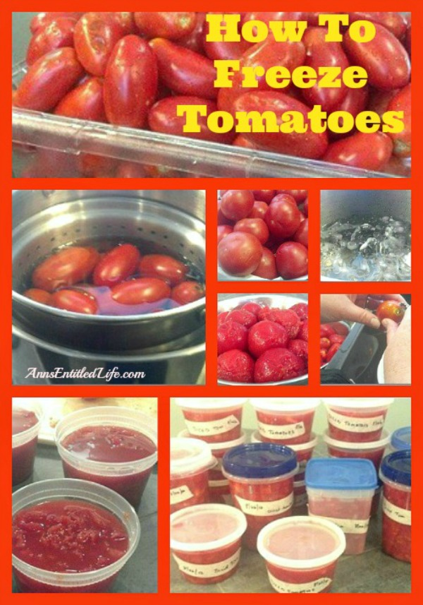 How To Freeze Tomatoes. Would you like to save some of that summer bounty for use over the winter? Learn how to freeze tomatoes with this step by step tutorial. The process was pretty much the same, and fairly easy!
