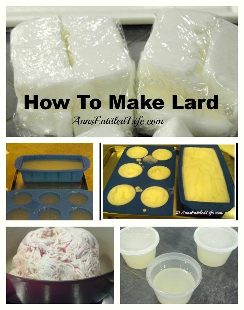 A collage of lard