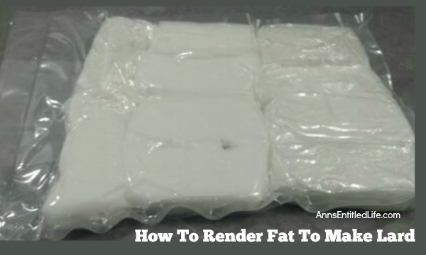 How To Render Fat To Make Lard. Ever wondered how to render fat to make lard? Hubby renders the fat every time we purchase a pig. We use some of the lard and he gives away some of the lard.  It is beautifully white, and really makes  a very nice pastry crust. Learn how to render fat to make lard with these step by step instructions.