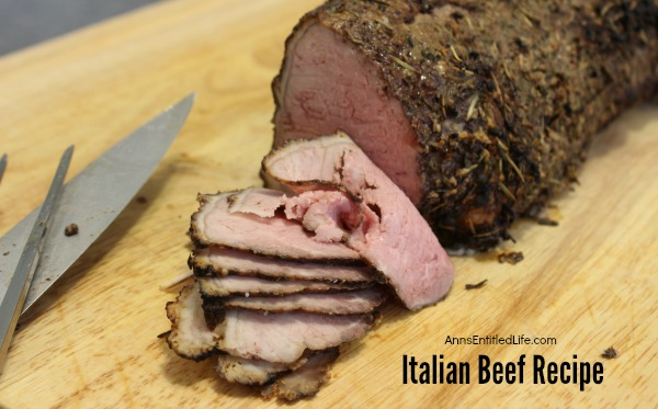 Italian Beef Recipe. This is the best Italian Beef recipe you will ever make. Succulent, juicy beef cooked to perfection with just a hint of seasoning. This is the beef recipe you have been looking for. Try this easy to make Italian Beef Recipe for dinner tonight!