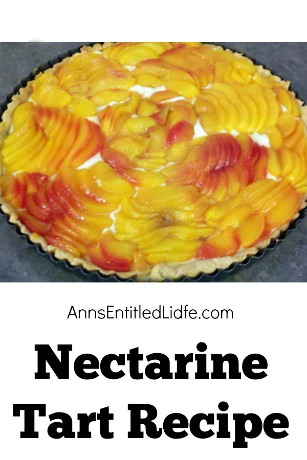 Nectarine Tart Recipe. I originally posted this Nectarine Tart recipe several years ago.  To me, this is the most beautiful dessert I have ever created - and I have baked a lot of desserts in my days!  This dough is fabulous and I have used it to make pies.  It is wonderfully sweet and very easy to work with.