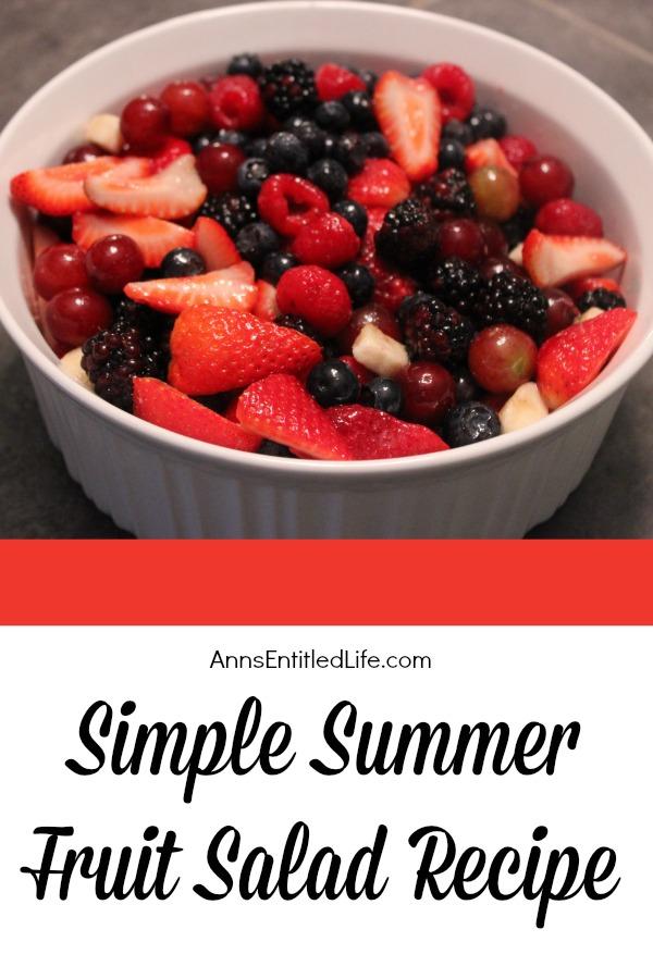 Simple Summer Fruit Salad Recipe