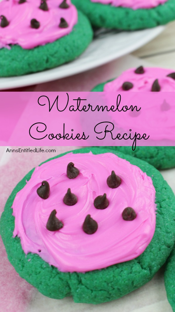 Watermelon Cookies Recipe. These adorable Watermelon cookies are so simple to make! Use a cake mix to make these delicious cookies that taste look and taste like a watermelon. These are a fun time summer cookie that your children, family and friends will love.