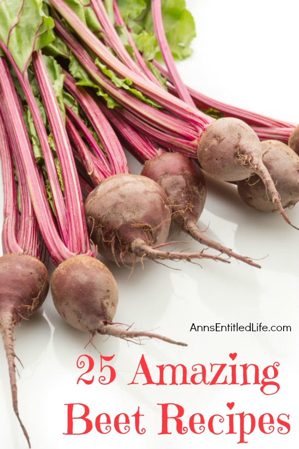 25 Amazing Beet Recipes. From salads to drinks, from bread and cakes to PASTA, the beet is a truly fabulous, amazing and versatile vegetable. Nothing beats beets! Try one of these amazing beet recipes tonight.
