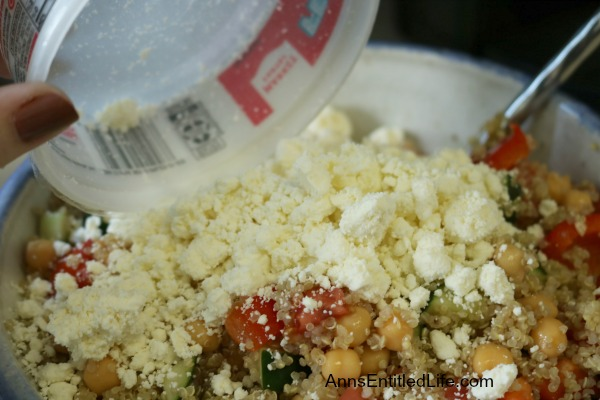 Greek Quinoa Salad Recipe. This easy to make, delicious Greek Quinoa Salad recipe is a wonderful lunch entree or great side dish. If you are looking for tasty quinoa recipe, try this Greek Quinoa Salad today!