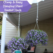 Cheap and Easy Hanging Plant Basket Hack