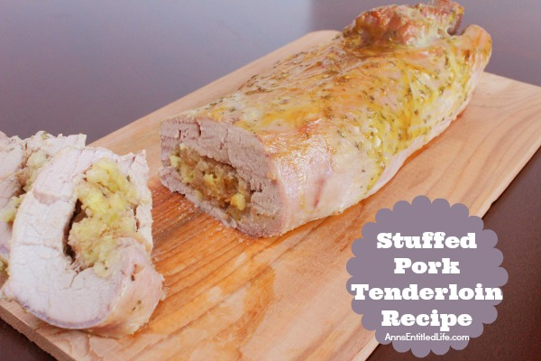 Stuffed Pork Tenderloin Recipe. This easy to make, mouthwatering stuffed pork tenderloin recipe is juicy and flavorful. The wonderful combination of spices, the simple stuffing and dressing, all combine for a fabulous pork tenderloin entree.