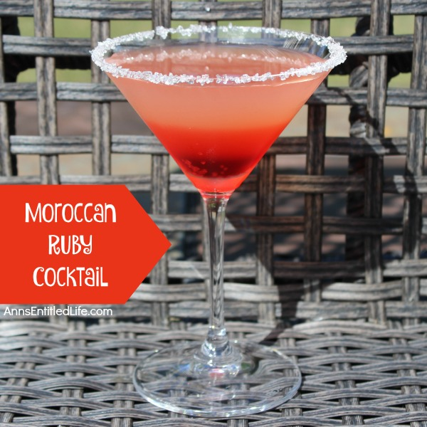 Moroccan Ruby Cocktail Recipe. A flavor explosion on your tongue, this Moroccan Ruby Cocktail is citrus-y, sweet, and totally delicious. Combining grapefruit and cranberry, the Moroccan Ruby is an excellent year-round cocktail to serve at a party, get-together, or as a special treat.