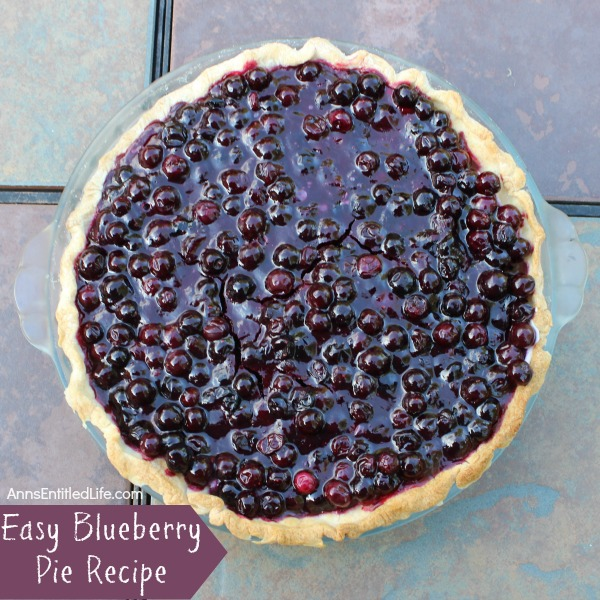 Blueberry Pie Recipe. An easy to make blueberry pie.  This delicious homemade blueberry pie combines fresh blueberries and wholesome dairy cream for a truly luscious dessert!
