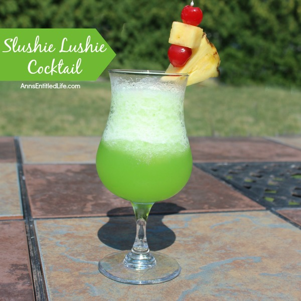 Slushie Lushie Cocktail Recipe. A fun party drink that really packs a punch! This tasty-sweet slushie lushie can really sneak up on you, so keep that in mind when you drink.