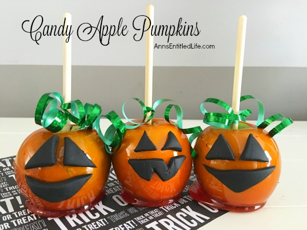 Pumpkin Candy Apples Recipe. Candy apples are the favorite of every child! This Halloween make these wonderful Pumpkin Candy Apples for parties, lunchboxes, afternoon snacks or as a special dessert. Your family will love these tasty treats!