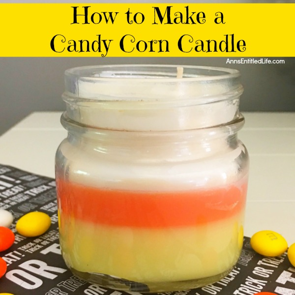 How to Make a Candy Corn Candle. Make your own homemade candy corn candles. This candle making craft is easier than you think. You can make these in no time flat using this step by step how to make a candy corn candle tutorial. These homemade candy corn candles will make your home smell fabulous. Make a few and give them as gifts!