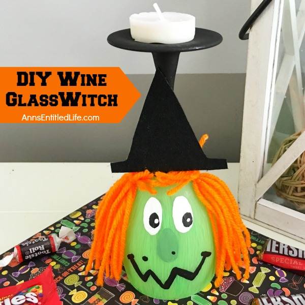 make your own adorable wine glass witch this easy step