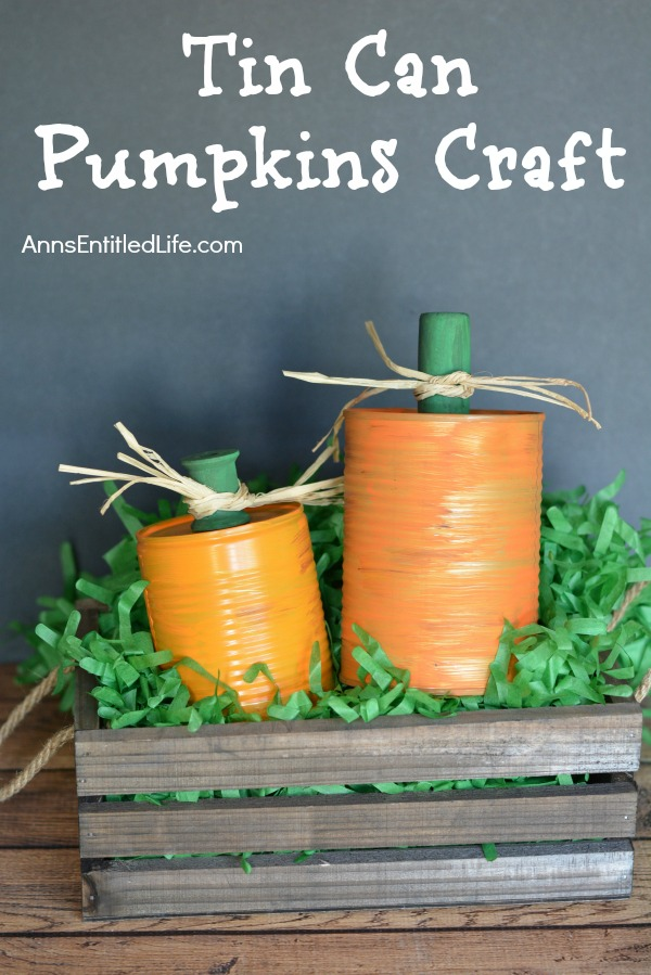 tin can pumpkin craft tin can pumpkins craft 5586
