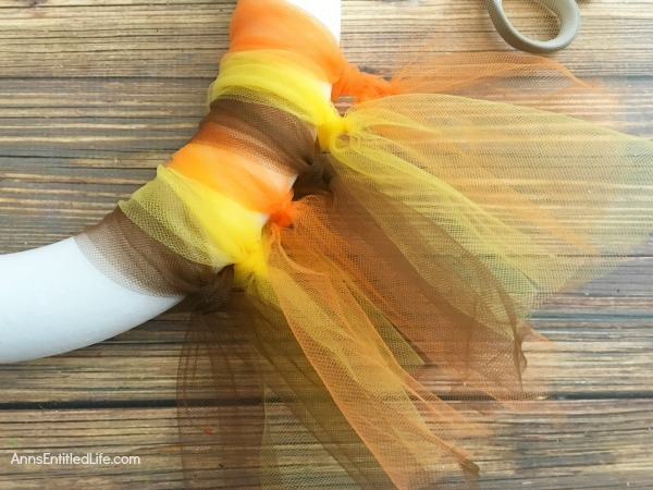 Easy Thanksgiving Wreath DIY. Make this simple yet pretty and easy Thanksgiving Wreath DIY for the holidays. The colors and sentiment are completely customizable. In under an hour you can have festive Thanksgiving decor!