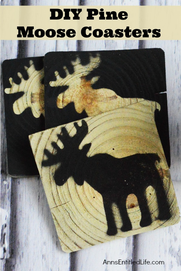 DIY Pine Moose Coasters. These DIY Pine Moose Coasters are cute and quite simple to make. This is a fantastic project to make using scrap wood, and can be finished very quickly. These easy to make Moose coasters are unique, and something fun for your rustic decor, a gift, or for use as holiday coasters!