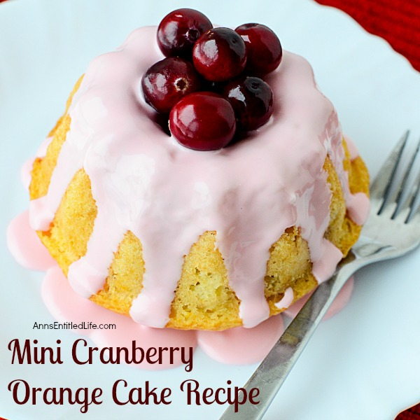 Mini Cranberry Orange Cake Recipe. This festive holiday dessert recipe is so easy to make! Only you will know the base is a boxed cake mix; your friends and family will marvel at your creativity while devouring these delicious Mini Cranberry Orange Cakes.