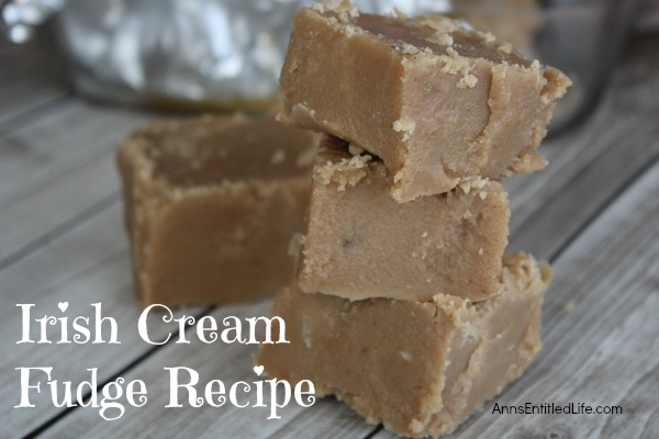 Irish Cream Fudge Recipe. This yummy Irish cream fudge recipe is a decadent treat well worth the calorie splurge! Irish cream and coffee is a delicious flavor combination - add in chocolate and marshmallow and this fudge recipe is a real winner for the holidays, get-together or as a special treat.