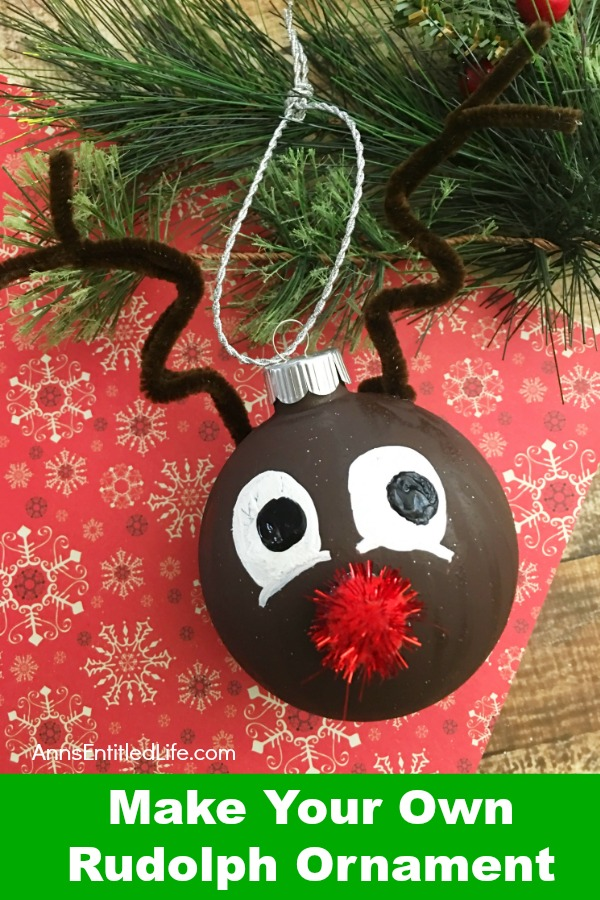 how to make your own rudolph ornament - Rudolph Christmas Decorations