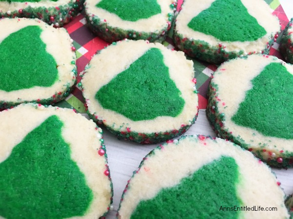 Slice and Bake Trees Recipe. Make your own slice and bake Christmas cookies with this easy to put together slice and bake trees recipe! Make in just a few minutes, refrigerate overnight, and bake the next day. A tasty cookie recipe that yields beautiful results!