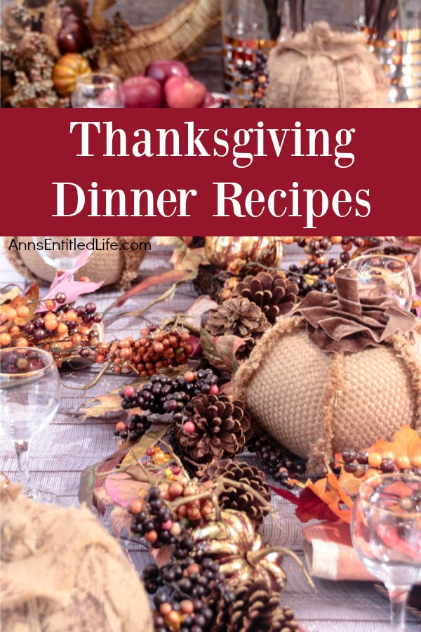 Thanksgiving Dinner Recipes. A long list of Thanksgiving Day Dinner Menu Recipes to share with friends and family. Whether you are hosting Thanksgiving dinner (or lunch) in your home, or making one special recipe to take to your friend's or relative's house, this list of Thanksgiving Dinner Recipes can help you plan your meal.