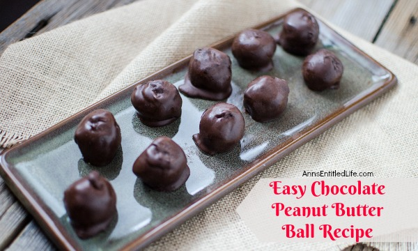 Easy Chocolate Peanut Butter Ball Recipe. These delicious, no bake Chocolate Peanut Butter Balls are simple to make! Your entire family will enjoy these simple candies. Indulge during the holidays, as a special treat, during snack time or anytime! This Easy Chocolate Peanut Butter Ball Recipe will satisfy any sweet tooth.