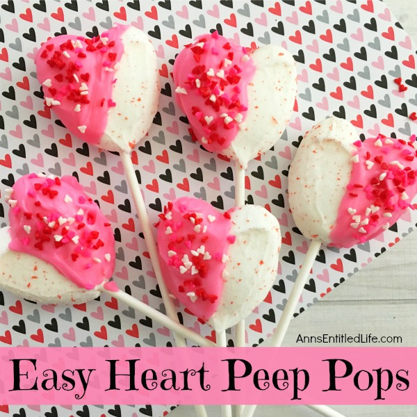 Easy Heart Peeps Pops Recipe. Dress Up Marshmallow Peeps Hearts With  Holiday Sprinkles And Chocolate