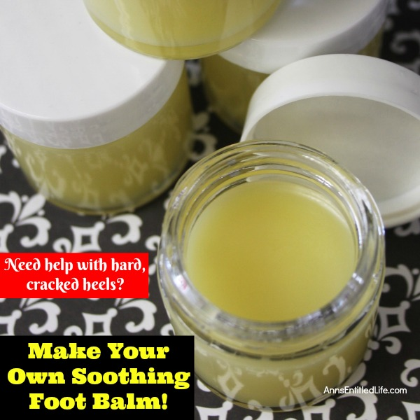 How to Make Your Own Soothing Foot Balm. Many of us get hardened feet and cracked heels from time to time. It is pretty safe to say all of us get tired, worn out feet at times. If you need help with hard, cracked heels and tired and sore feet, this foot balm may be just what you need. Try this lovely Soothing Foot Balm with Melaleuca and Peppermint Essential Oils!
