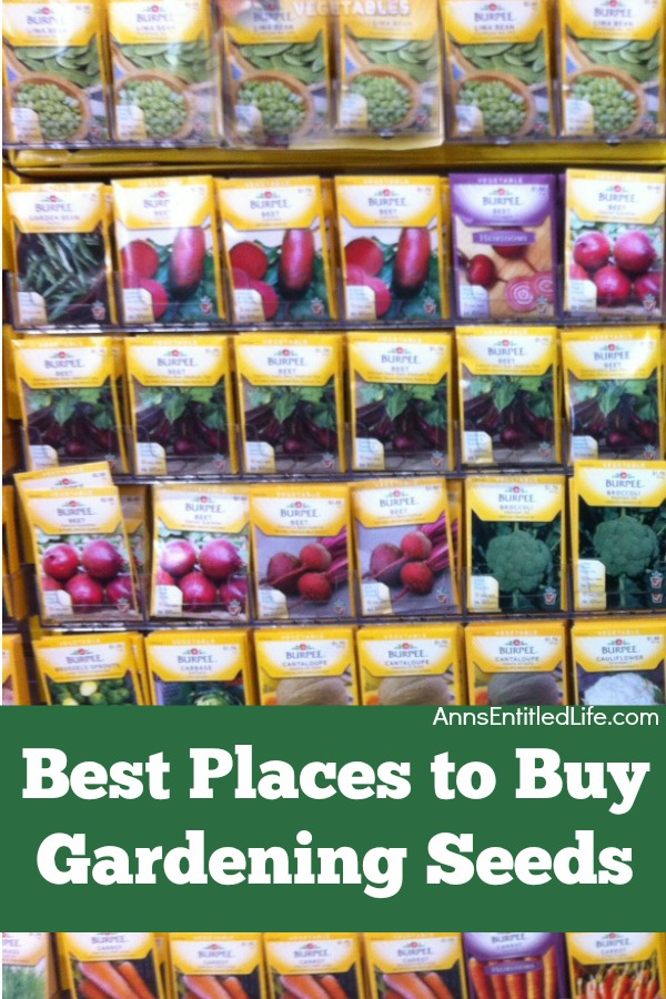 Best Places to Buy Gardening Seeds. This is a list of options for the purchase of gardening seeds locally, as well as the online purchase of your vegetable seeds, flower seeds, and herb seeds.