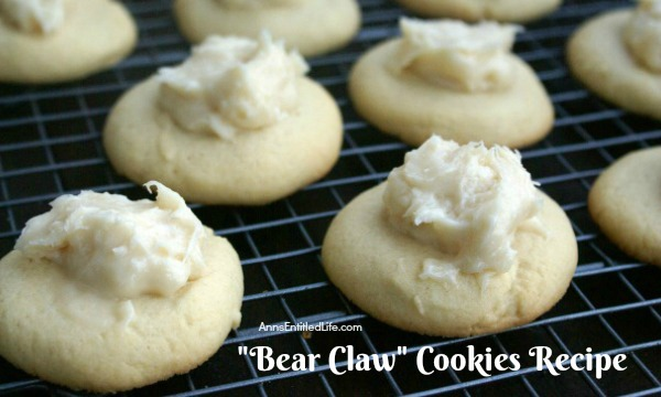 Bear Claw Cookies Recipe. Great tasting bear claw pastry in a cookie form! These easy to make bear claw cookies are fabulously sweet and buttery. A terrific recipe for bear claws cookies to bake for dessert, snacking, or lunchbox treats.