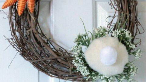 Easy DIY Bunny Butt Wreath