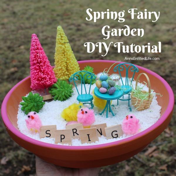 spring fairy garden diy tutorial - Diy Fairy Garden