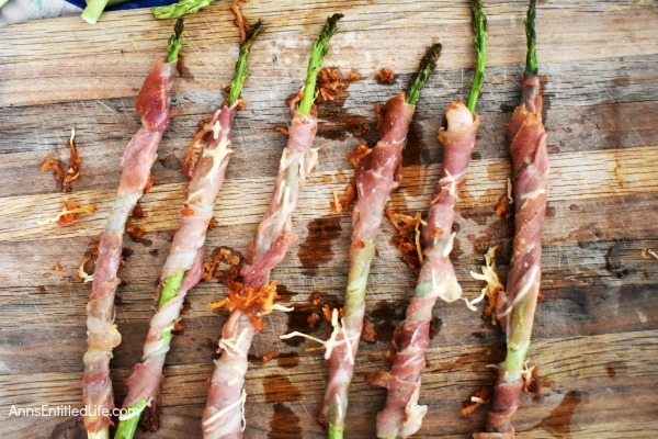 Prosciutto Asparagus Spears Recipe. These prosciutto wrapped spears of asparagus are a delicious side dish to serve at your next spring brunch or perfect as an exquisite dinner party appetizer.