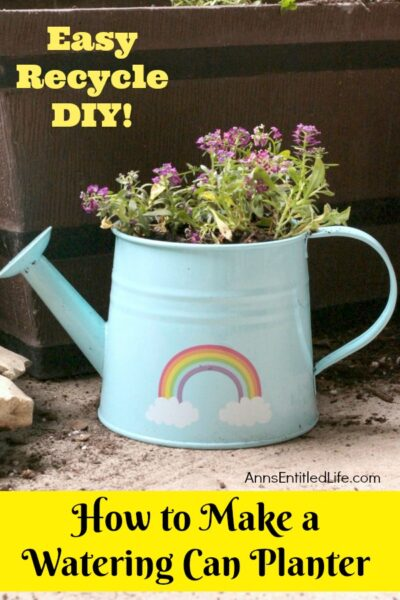 How to Make a Watering Can Planter