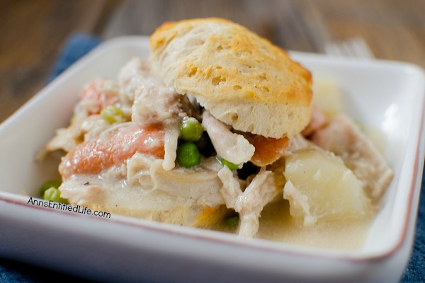 Slow-cooker Chicken Pot Pie Recipe. An easy and delicious slow cooker recipe your whole family will love. Try this fabulous chicken recipe for dinner tonight!