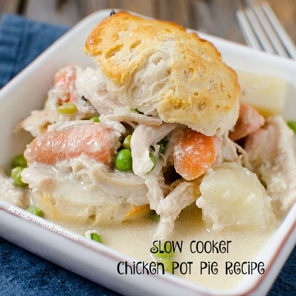 Slow-cooker Chicken Pot Pie Recipe. An easy and delicious slow cooker recipe your whole family will love. Try it for dinner tonight!