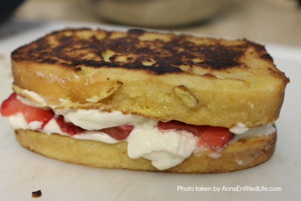 Strawberry Breakfast Sandwich Recipe. Sweet, delicious strawberries, creamy mascarpone, and a fantastic pound cake make for one fabulous breakfast! Or, eat this tasty strawberry sandwich treat as a dessert. Simply marvelous!
