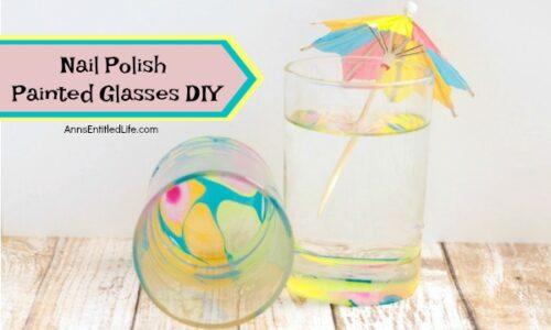 Nail Polish Painted Glasses DIY